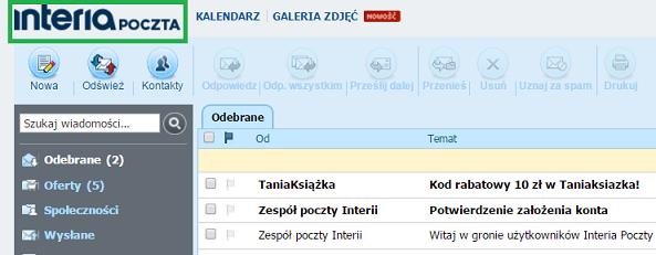 poczta na stronie głównej /INTERIA.PL