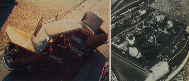 Pod maską ciasno usytuowana jednostka napędowa o poj. 1,6 dm. Dostęp do aparatu zapłonowego, gaźnika, świec zapłonowych jest jednak dobry. /Motor