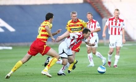 Podczas meczu Cracovia - Jagiellonia atmosfera była dobra/fot. Tomasz Markowski /Agencja Przegląd Sportowy