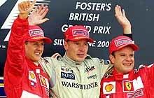 Podium GP Wielkiej Brytanii w 2001 r. /poboczem.pl