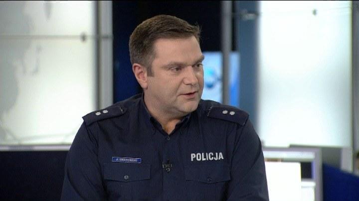 Podkom. Jarosław Gnatowski /TVN24/x-news