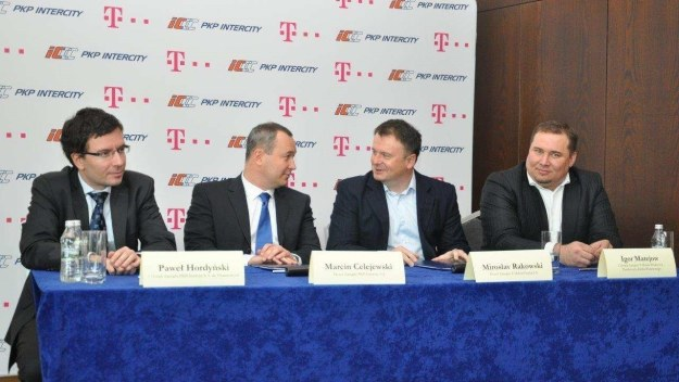 Podpisanie umowy pomiędzy PKP IC i T-Mobile /materiały prasowe