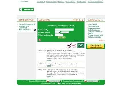 Podrobiona strona BZ WBK /materiały prasowe