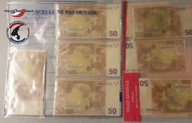 Podrobione banknoty skonfiskowane w domu schwytanego przestępcy /Francuska policja /RMF FM