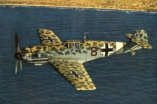 Podstawowy myśliwiec Luftwaffe - Bf 109 - napędzany był przez silnik Daimler-Benz /