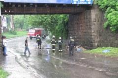 Podtopiony wiadukt w Wieliczce