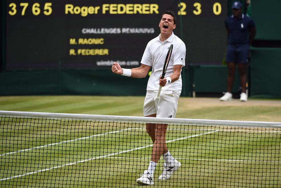 Pogromca Rogera Federera na Wimbledonie /ANDY RAIN /PAP/EPA