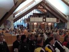 """""""Pogrzeb"""" huraganu Katrina – uroczystość w jednym z kościołów"""