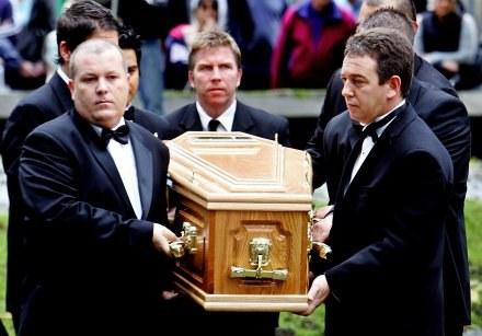 Pogrzeb Paula Huntera był w czwartek /AFP
