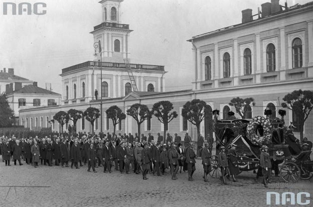 Pogrzeb Piotra Wojkowa zamordowanego przez Borysa Kowerdę /Z archiwum Narodowego Archiwum Cyfrowego