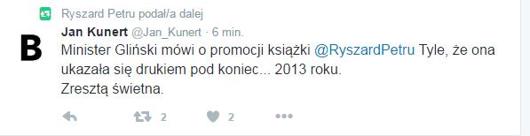 Pojawiają się pierwsze odniesienia do zarzutów ministra Glińskiego /Twitter