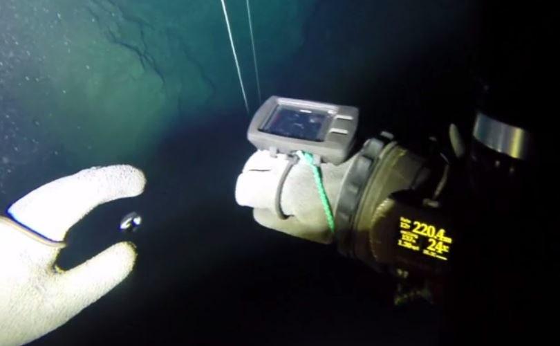 Polacy odkryli najgłębszą zatopioną jaskinię na świecie. Zrzut ekranu z materiału wideo udostępnionego przez Krzysztofa Starnawskiego na profilu w serwisie Vimeo /materiały prasowe