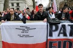 Polacy protestują w Londynie
