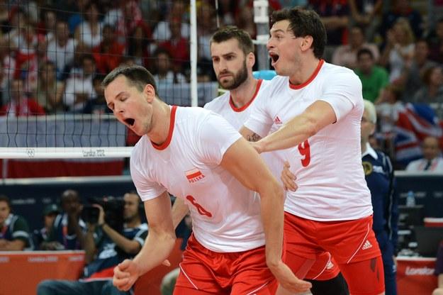 Polacy w meczu z Wielką Brytanią /AFP