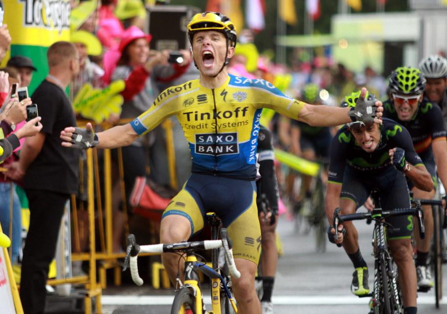 Polak Rafał Majka z ekipy Tinkoff-Saxo wygrywa piąty etap 71. Tour de Pologne /Grzegorz Momot /PAP