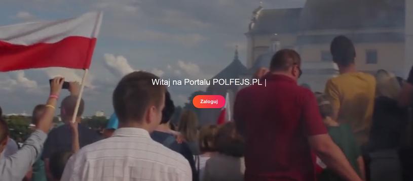 Polfejs - Polski Portal Społecznościowy. Strona główna, jeszcze przed logowaniem /materiały prasowe