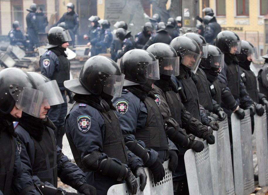 Policja na Majdanie /ZURAB KURTSIKIDZE /PAP/EPA