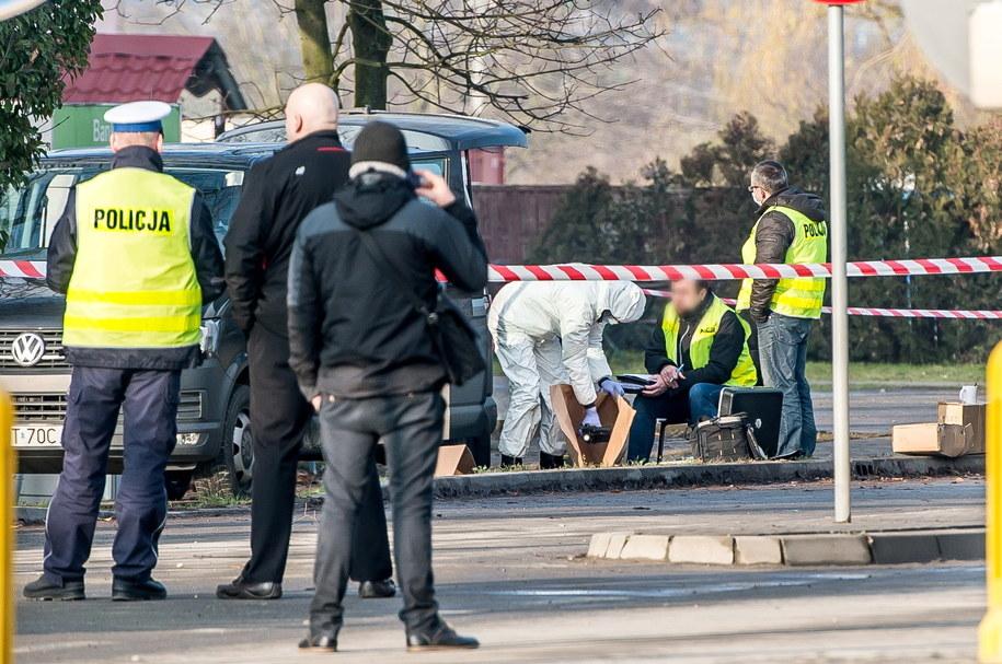 Policja na miejscu sobotniej akcji /Maciej Kulczyński /PAP