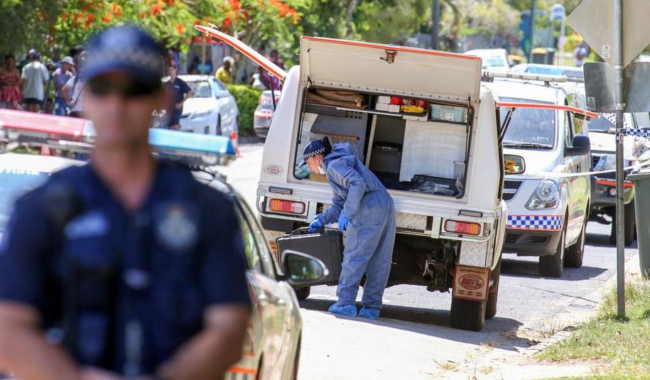 Policja na miejscu tragedii w Australii /ROMY BULLERJAHN /PAP/EPA