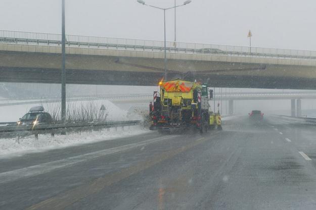 Policja szuka świadków rzucania śniegu z wiaduktów / Fot: Tadeusz Koniarz /Reporter