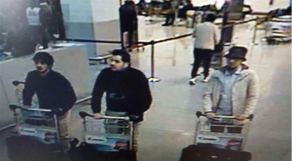 Policja ujawniła wizerunki zamachowców z lotniska Zaventem /BELGA PHOTO FEDERAL POLICE /Agencja FORUM