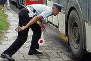 Policja wciąż ma zastrzeżenia do stanu technicznego gimbusów /RMF FM