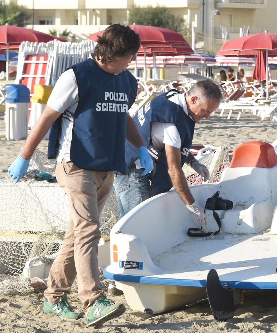 Policjanci w Rimini /MANUEL MIGLIORINI /PAP/EPA