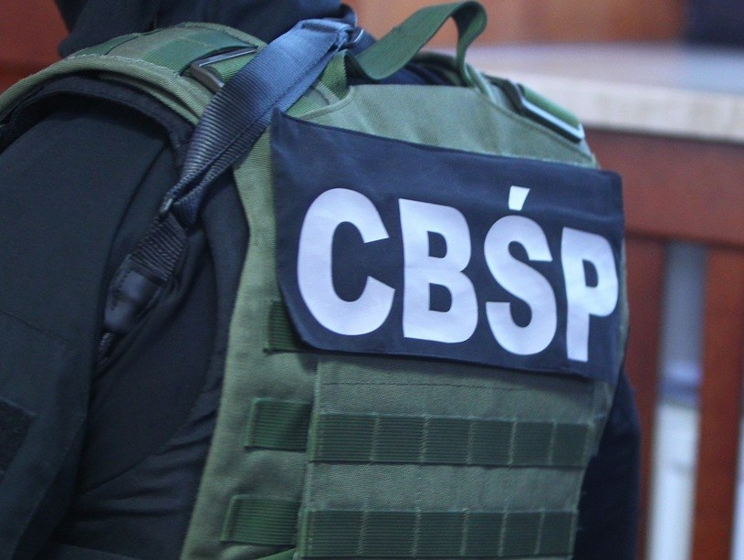 Policjanci z CBŚP /Stanisław Kowalczuk /East News