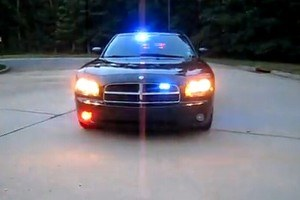 Policyjny dodge charger /