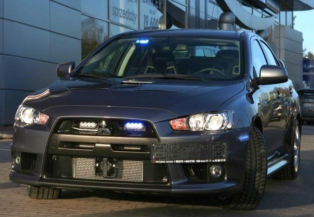 Policyjny Mitsubishi Lancer Evo X /Policja