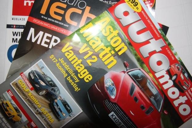 Półki z czasopismami motoryzacyjnymi w polskich sklepach są dużo uboższe niż  regały w Europie /INTERIA.PL