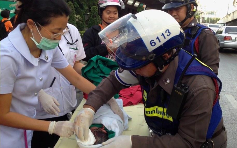 Położne szkolą policjantów w Bangkoku /Bangkok Police Department  /PAP/EPA