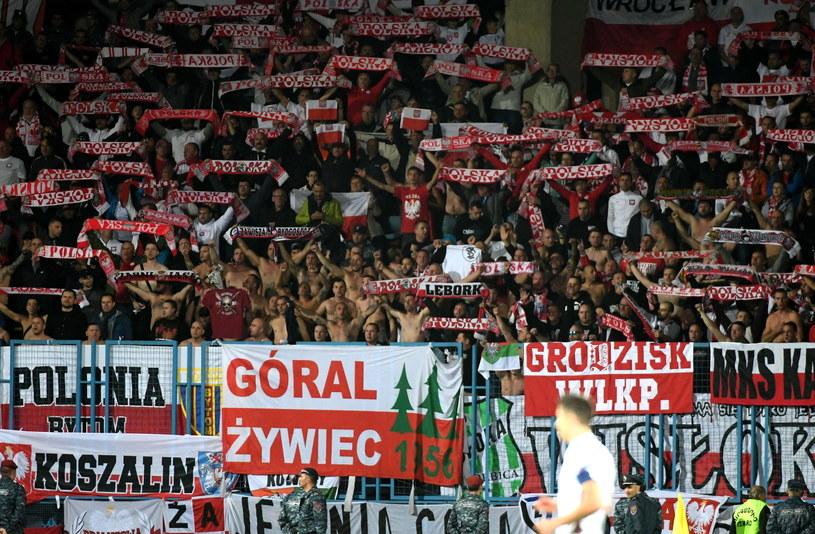 Polscy kibice na meczu Armenia - Polska (1-6) /Bartłomiej Zborowski /PAP