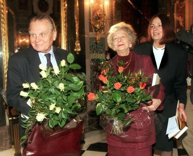 Polscy Nobliści: od lewej Czesław Miłosz i Wisława Szymborska,  fot. Andrzej Iwańczuk /Reporter