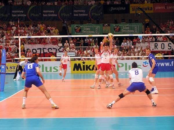 Polscy siatkarze pokonali w Katowicach  Serbię i Czarnogórę 3:1 /INTERIA.PL