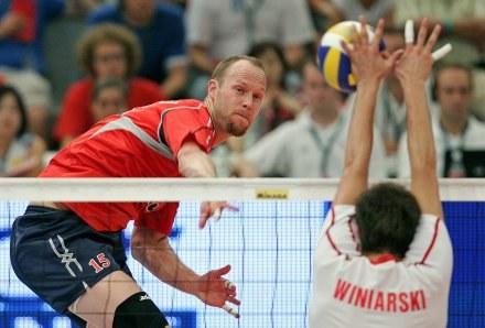 Polscy siatkarze przegrali z USA mecz o trzecie miejsce w LŚ 2007 /AFP