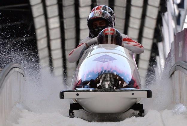 Polska czwórka bobslejowa podczas igrzysk w Soczi /AFP