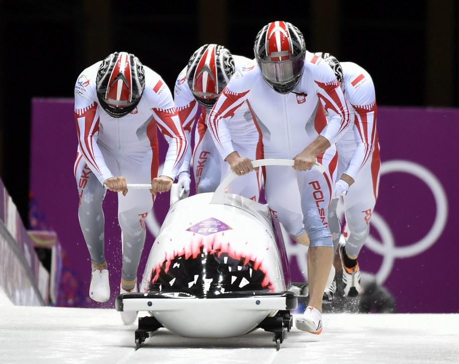 Polska czwórka podczas igrzysk w Soczi /JOHN G. MABANGLO /PAP/EPA