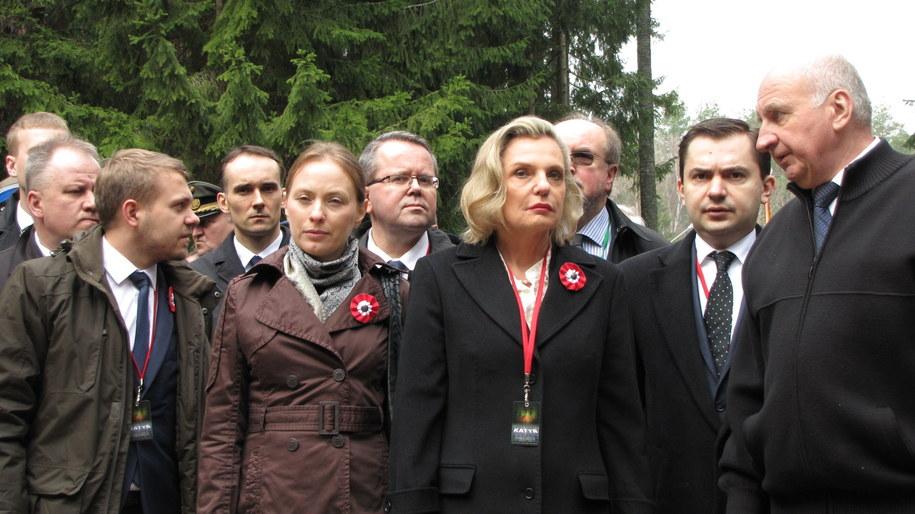 Polska delegacja w Katyniu /Przemysław Marzec /RMF FM