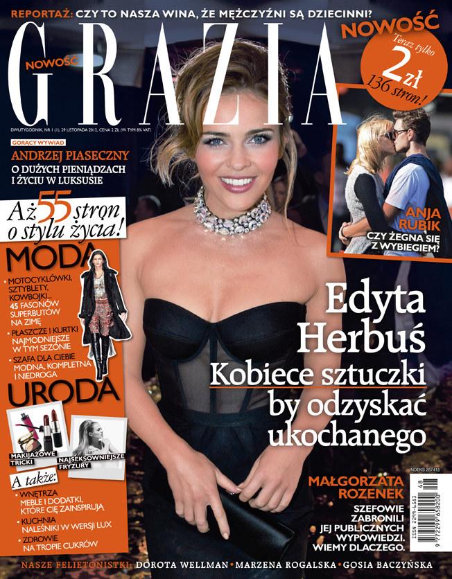 """Polska edycja - okładka pierwszego numeru """"Grazii"""" /materiały prasowe"""