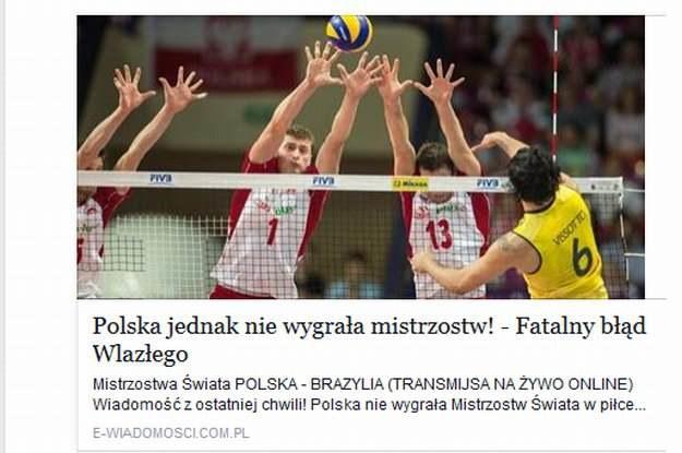 """""""Polska jednak nie wygrała mistrzostw"""" - uważajmy na to facebookowe oszustwo /materiały prasowe"""