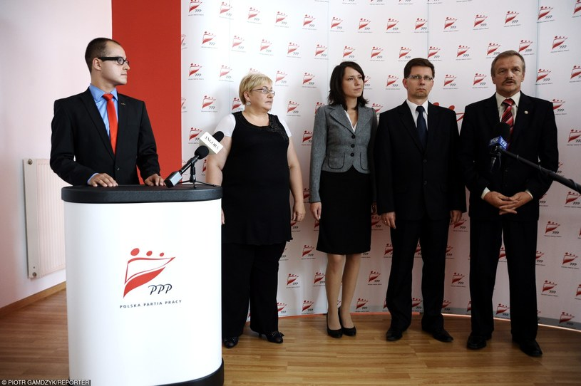 Polska Partia Pracy na konferencji prasowej przed wyborami w 2011 r. /Gamdzyk/REPORTER /East News