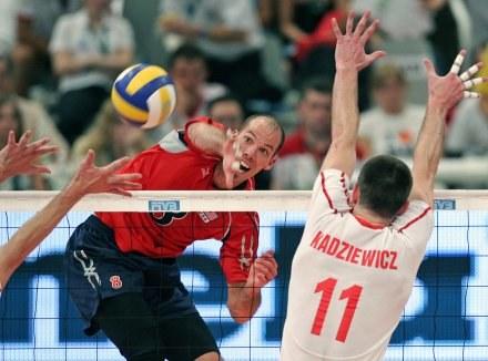 Polska przegrała z USA w meczu o 3. miejsce 1:3. W akcji William Priddy /AFP