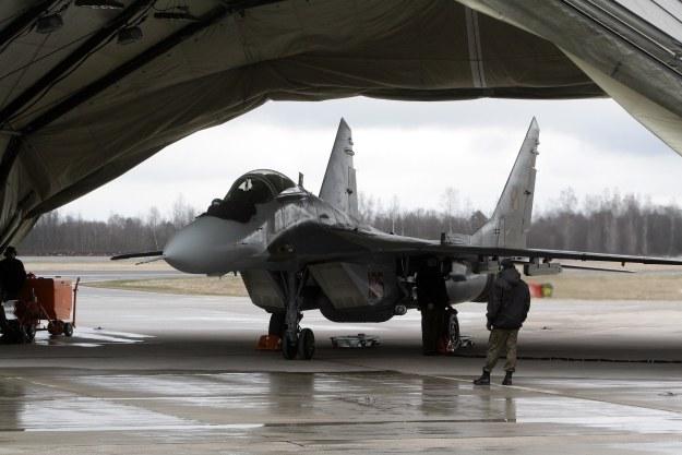 Polski MiG-29 na Litwie /AFP