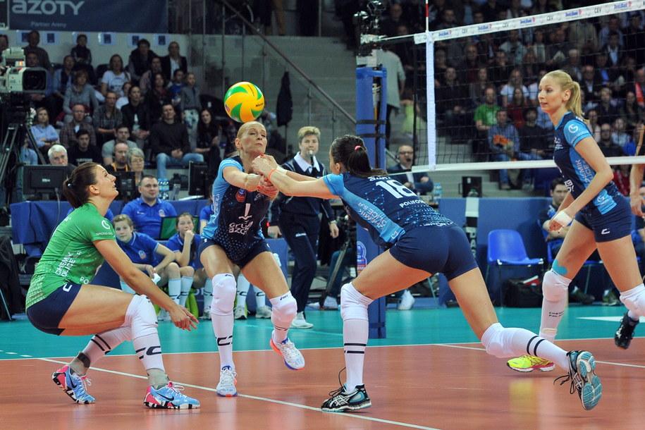 Polski zespół po raz drugi w historii wystąpił w Final Four Ligi Mistrzyń /Marcin Bielecki   (PAP) /PAP