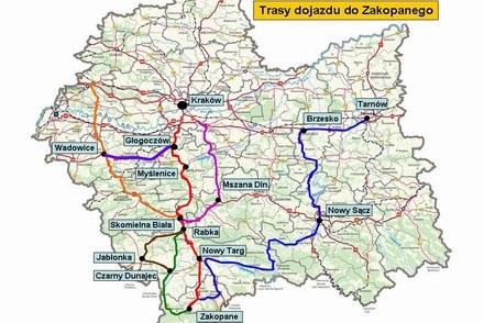 Polskie drogi do  Zakopanego /