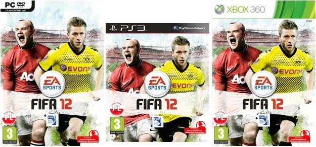 Polskie okładki gry FIFA 12 /Informacja prasowa