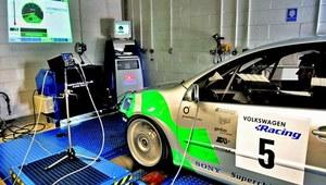 Pomiar parametrów silnika na hamowni