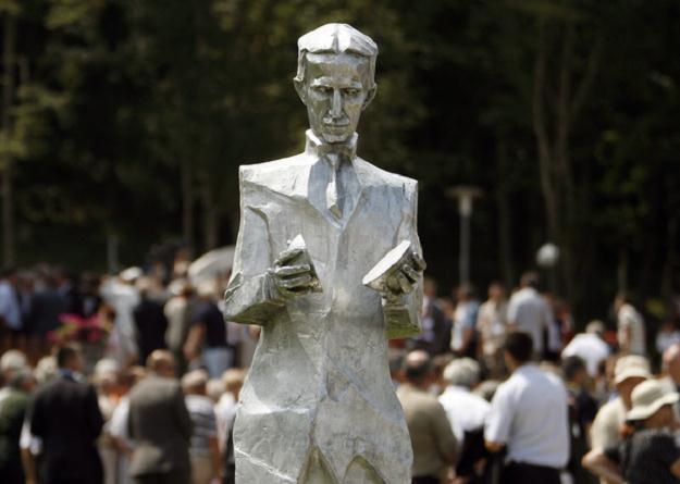 Pomnik Nikoli Tesli w wiosce Smiljan /AFP