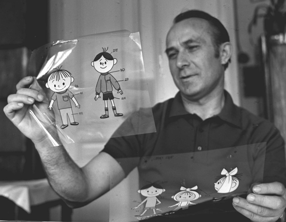 Pomysłodawcą Bolka i Lolka był Władysław Nehrebecki (na zdjęciu), który postacie sympatycznych chłopców wzorował na swoich synach. /Stanisław Jakubowski    /PAP